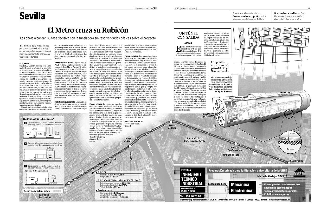 Infografía: La tuneladora del metro de Sevilla