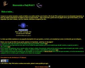 La Padyweb era gráficamente desastrosa y su contenido dejaba mucho que desear pero me sirvió para aprender mucho (Año 1997)