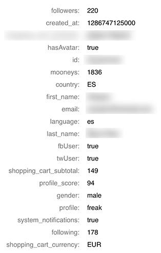 BONUS: Ejemplo de array de datos que se recopilan en Moodyo para cada visita