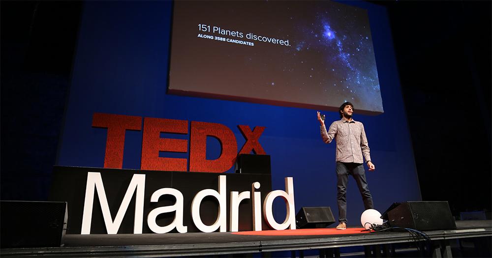 Sergio, en TEDxMadrid en septiembre de 2013 (Imagen de TEDx Madrid)