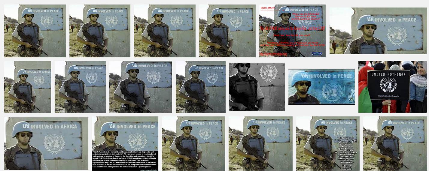 """Captura de pantalla con los resultados de Google Imágenes al buscar """"Uninvolved in peace"""""""