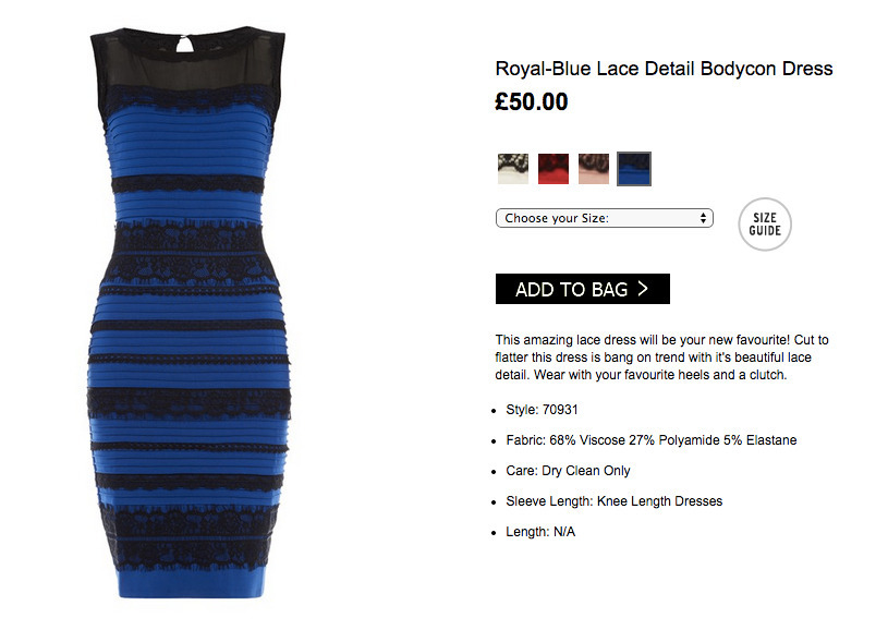 Vestido Royal Blue Black #TheDress