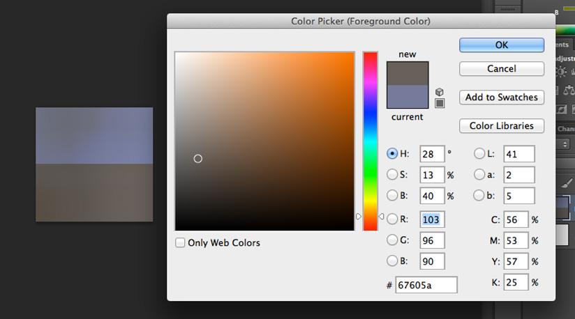 """Finalmente, al marcar la zona más oscura obtenemos que el color es marrón, lo que puede dar lugar a decir que es """"dorado"""", pero no """"negro""""."""