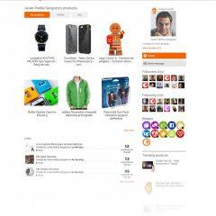 Diseño de interfaz para el perfil de usuario en una red social de compras